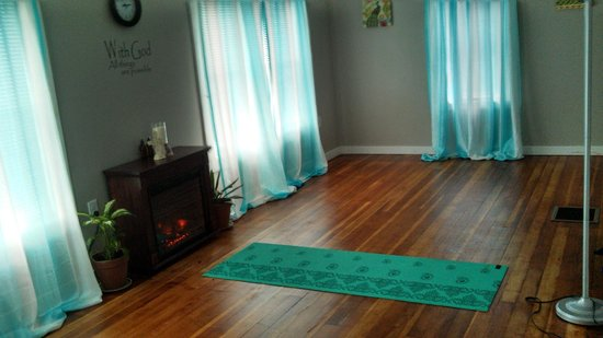 Cook Forest Massage: Serenity Yoga Studio. Yoga in the forest during the summer months!