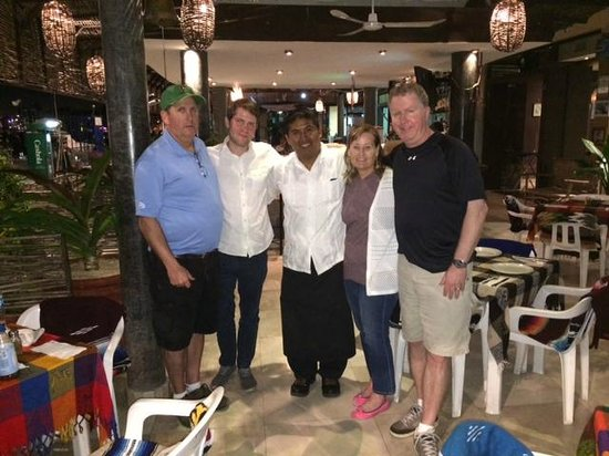 La Chatita Restaurant & Bar: Picture with Victor after another awesome dinner