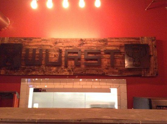 Wurst Bier Hall: kitchen window