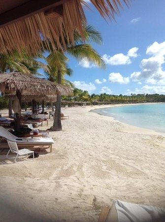 Jumby Bay, A Rosewood Resort: the beach outside room#35