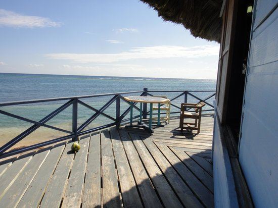 Blackbird Caye Resort : view from bar