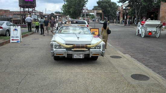 Fort Worth Stockyards National Historic District: Carro texano com chifre