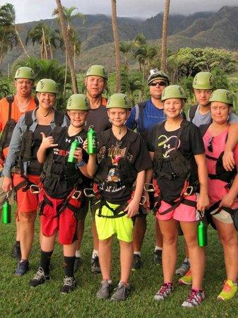 Flyin Hawaiian Zipline: Ready to go