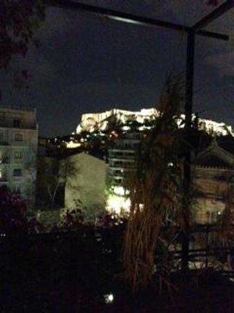 Hotel Metropolis: Vista de la Acropolis desde la Terraza de la Habitacion Familiar