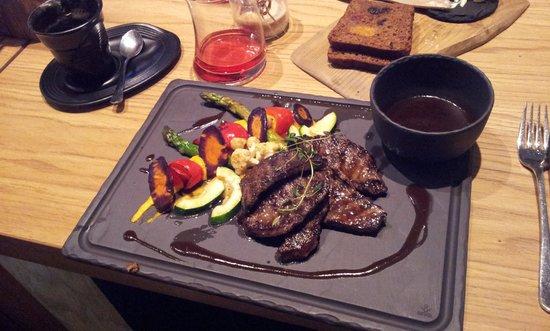 Meat Market Steak & Cocktail: Venison with grilled vegetables