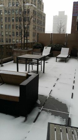 Gansevoort Park Avenue NYC: my balcony before the snow really came down