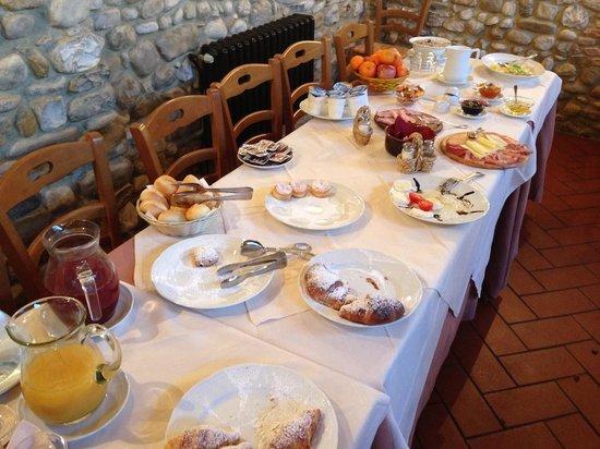 Relais Poggio Borgoni: colazione