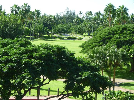 Luana Waikiki Hotel & Suites: beautiful view of park to ocean from hotel room