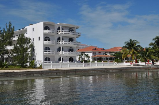 Sands Villas: View of oceanfront condo's from water