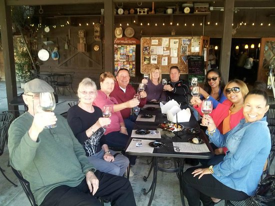 La Jolla Wine Tours San Diego Beer and Wine Tours: Enjoying the wine tasting...