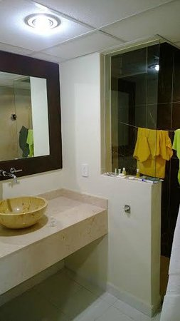 Las Brisas Huatulco : Shower and sink