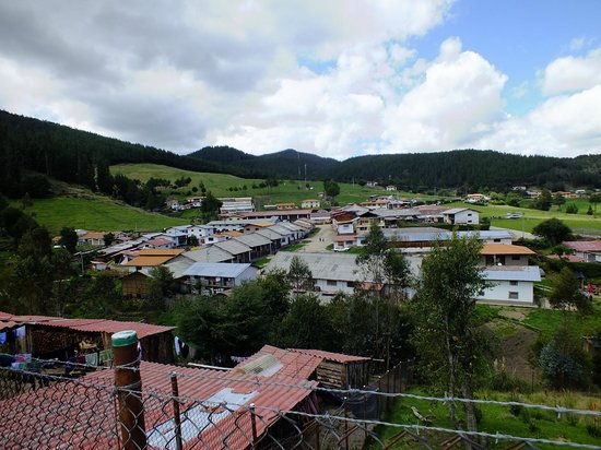 Granja Porcon: Looking out over the town