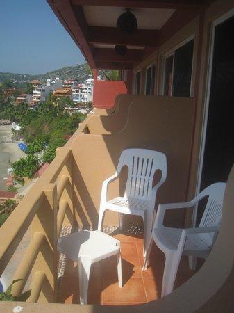 Hotel Irma : Room 17 balcony and chairs. Nice to watch sunsets