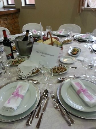 O Casarao: nice and appealling decoration of the tables