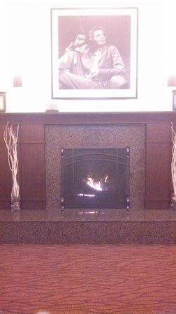 Hilton Garden Inn Milwaukee Downtown: Lobby Fireplace