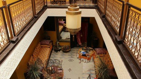 Riad SACR: Cortile interno