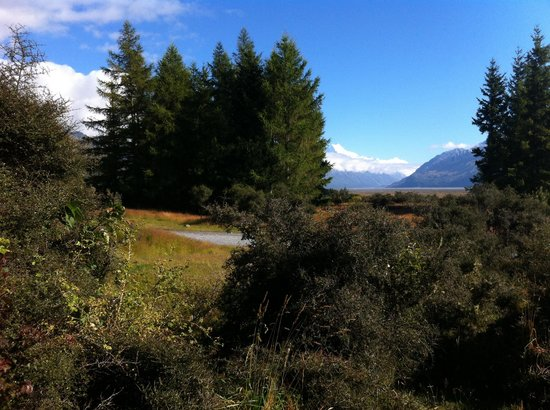Mount Cook Glentanner Park Centre: View from our unit...