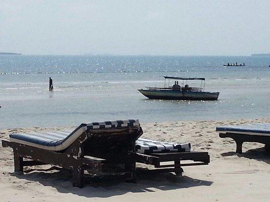 Jangwani Seabreeze Resort: Spiaggia