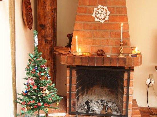 Casona La Recoleta: Fireplace