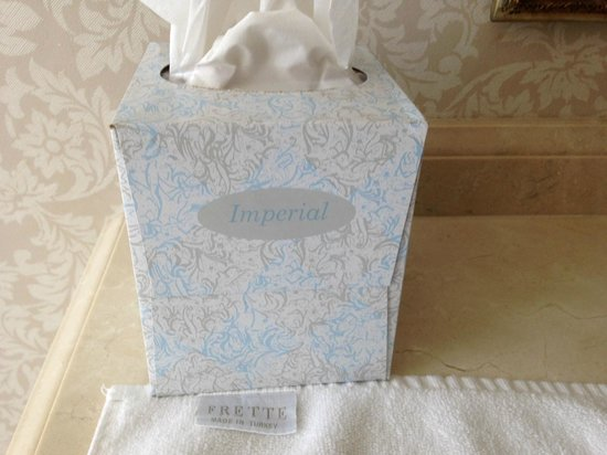 Hermitage Hotel: I don't understand the cheap tissues when they provide Frette towels