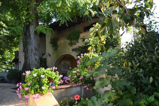 Casolare di Libbiano: side entrance