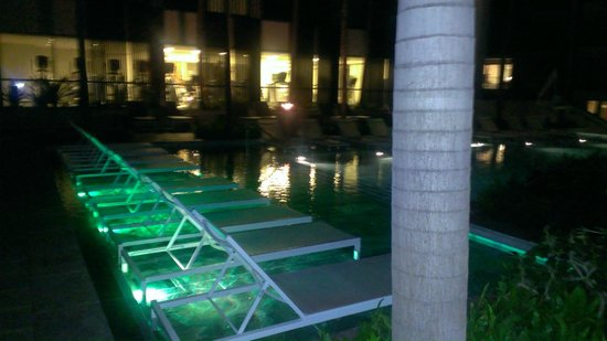 Andaz Maui At Wailea : Adult pool at night - there is another pool that is 24 hours