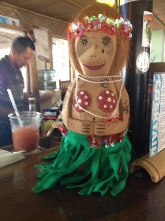 Paradise Cove Tiki Bar: One of the hot patrons having dronks at the bar.