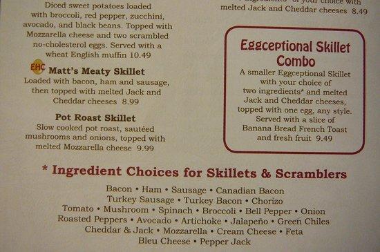 Egg Harbor Cafe Menu Johns Creek