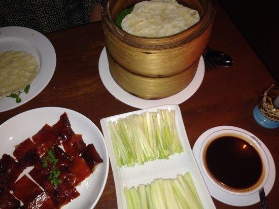 Live Dim Sum House : Peking duck pancakes