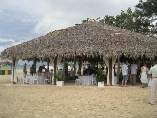 Beaches Negril Resort Spa Wedding Set Up