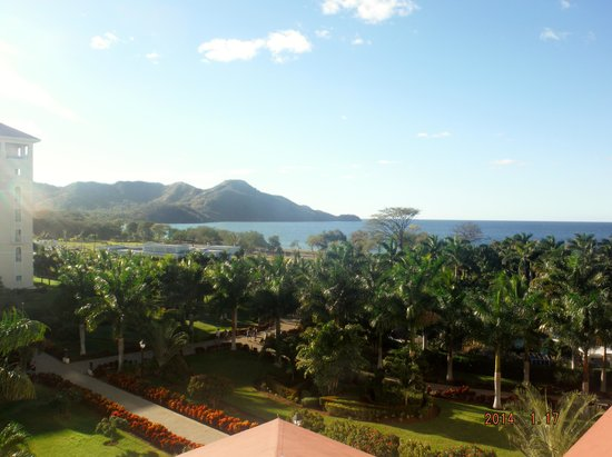 Hotel Riu Guanacaste: View from our room, third floor.