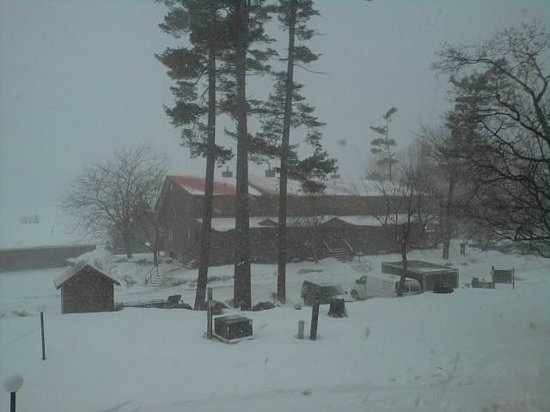 Calabogie Lodge Resort: Looking into a white out