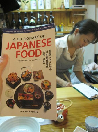 Doudou: satoko had plenty of books on japanese food, we talked about our love of japanese food!