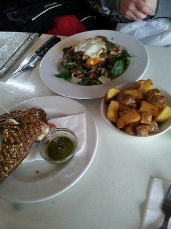 Bar Langendijk: Grilled Vegetable Stack, Mozzarella Toasti and Fries