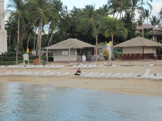 Fairmont Orchid, Hawaii: We had the beach to ourselves by 5 p.m!