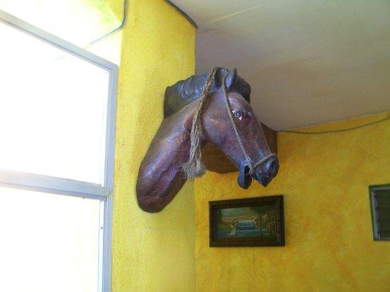 La Hacienda : Wooden horse on wall