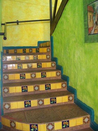 La Hacienda: Tile stairs