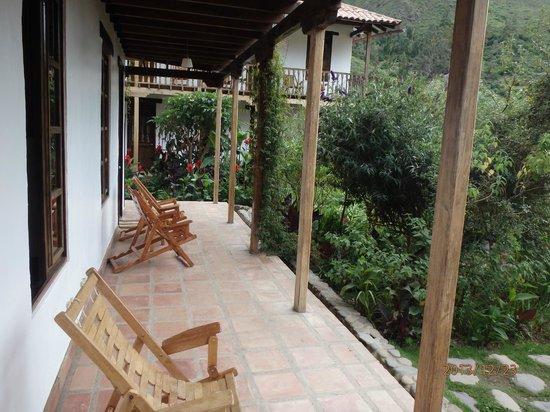 El Albergue Ollantaytambo: View from room patio...