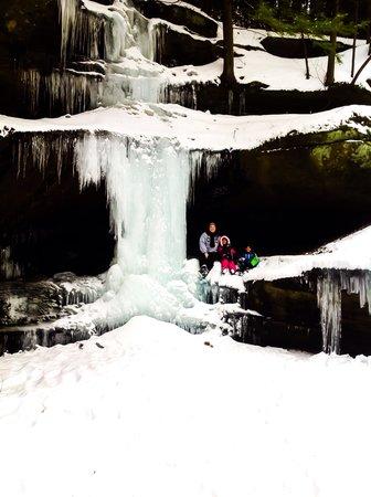 Crockett's Run: Winter-Waterfall
