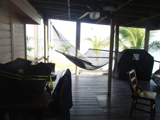 Kings Kamp: screened porch with double hammock