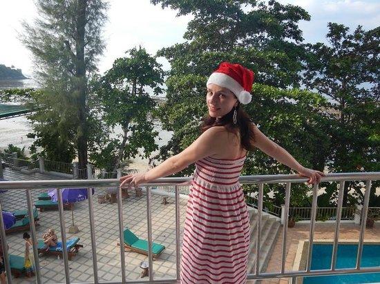 Tri Trang Beach Resort: Вид с балкона