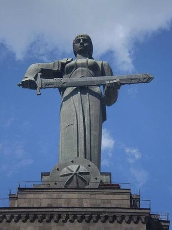 Yerevan, Armenien: Mother Armenia statue