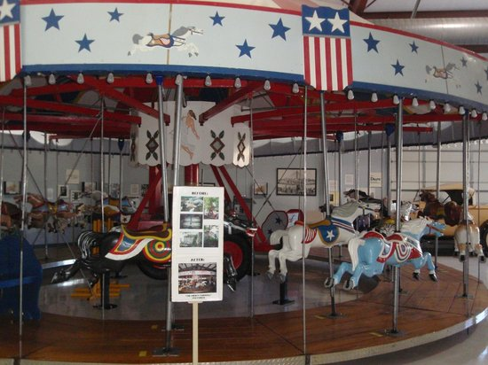 C.W. Parker Carousel Museum: 1950's portable carousel