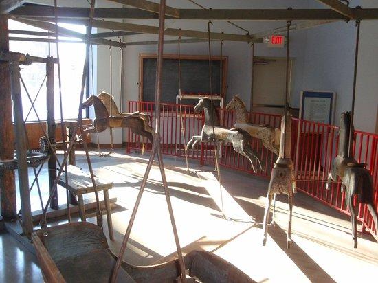 C.W. Parker Carousel Museum: 1850 Primitive carousel