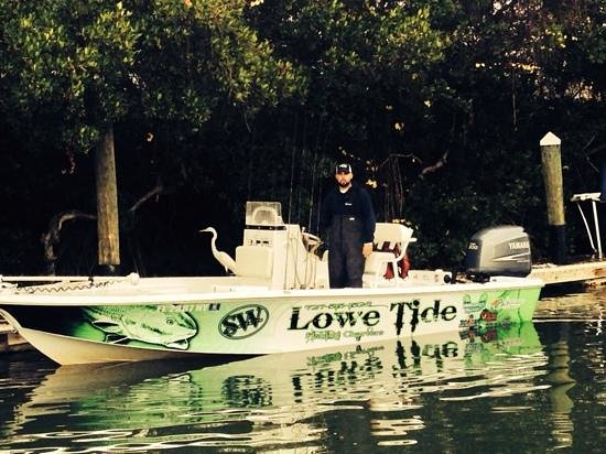 Lowe Tide Fishing Charters: captain james lowe at the dock