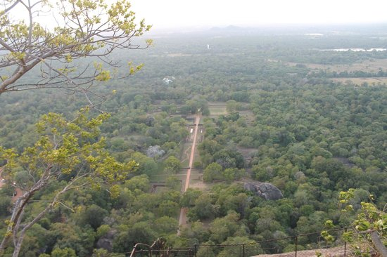 Mount Lavinia Hotel: View from Sigiriya.  Check out the Buddah in the distance.