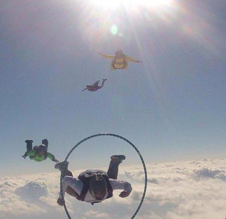 Skydive San Marcos: Hoop dive!