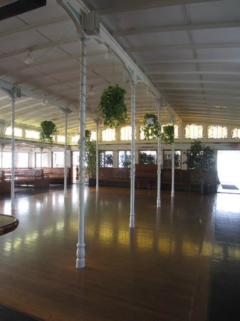 Maritime Museum of San Diego: Dance floor on the Victorian ferry.