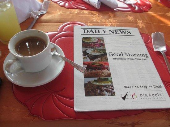 Big Apple Hotel : breakfast area