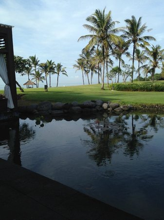 Pan Pacific Nirwana Bali Resort: view from breakfast